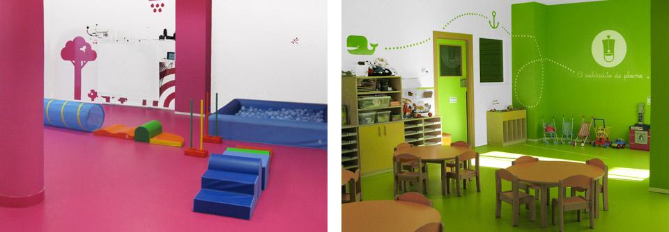 Pasitos, interiores. Pixelarte estudio de diseño gráfico, creatividad y web.