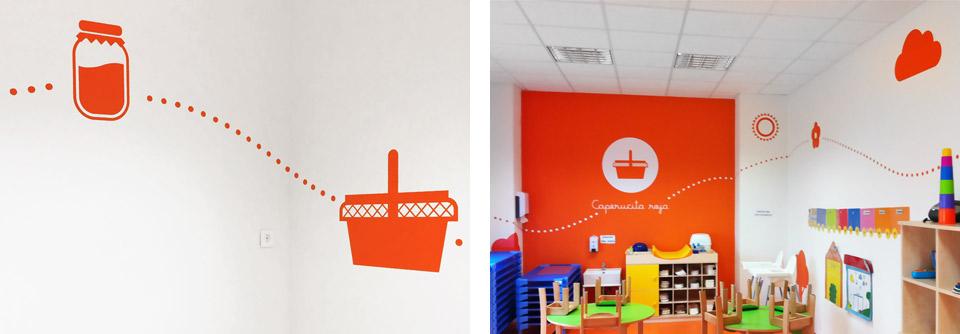 Pasitos, caperucita. Pixelarte estudio de diseño gráfico, creatividad y web.