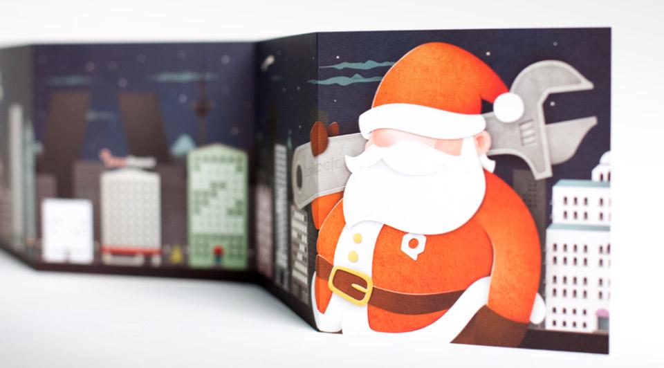 Felicitación navidad Imagen EasyRepair. Pixelarte estudio de diseño gráfico, creatividad y web.