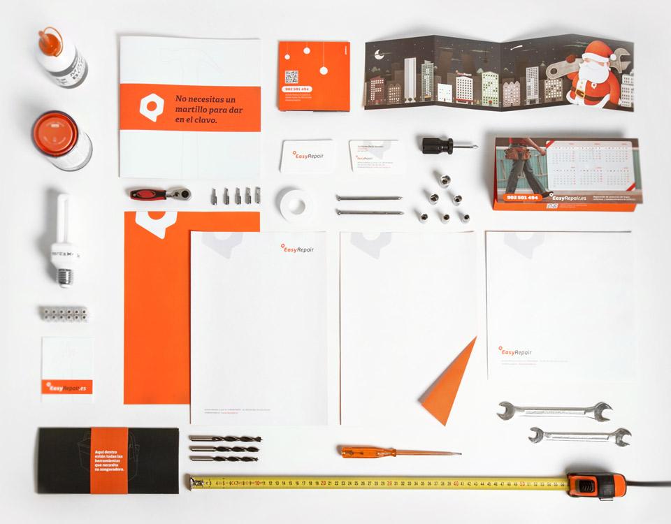 Vista Cenital Imagen EasyRepair. Pixelarte estudio de diseño gráfico, creatividad y web.