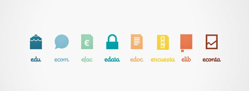 Iconos Esemtia Corporativa. Pixelarte estudio de diseño gráfico, creatividad y web.