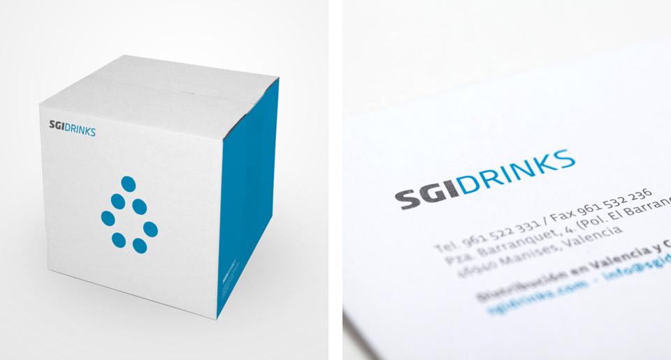 Elementos corporativa SGI. Pixelarte estudio de diseño gráfico, creatividad y web.