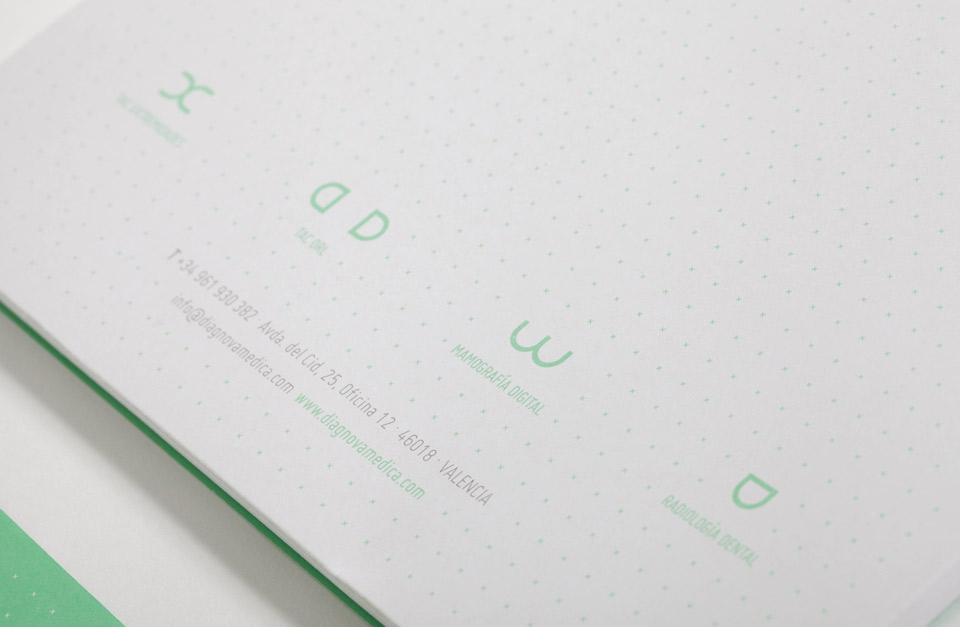 Diagnova Medica papeleria 7. Pixelarte estudio de diseño gráfico, creatividad y web.