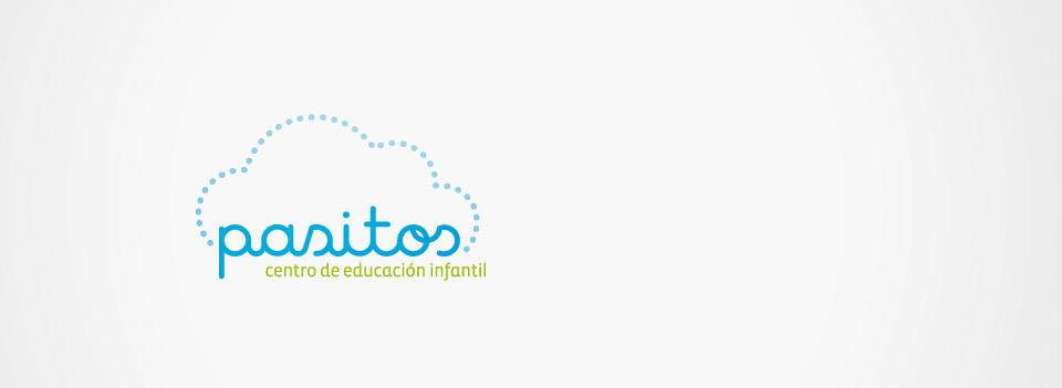 Pasitos, logotipo. Pixelarte estudio de diseño gráfico, creatividad y web.